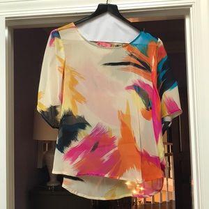 Sheer abstract shirt